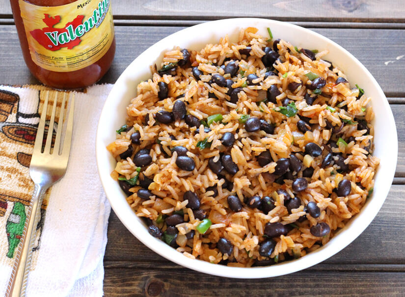 Mexican Rice And Beans  BLACK BEANS RICE Cook with Kushi