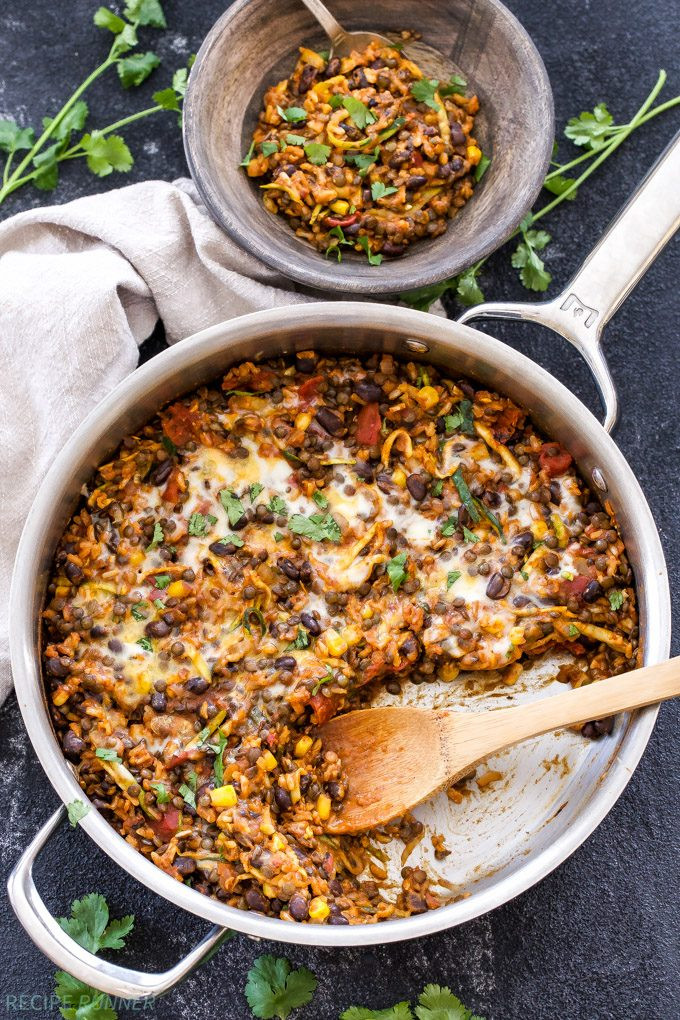 Mexican Rice And Beans  e Pot Cheesy Mexican Lentils Black Beans and Rice