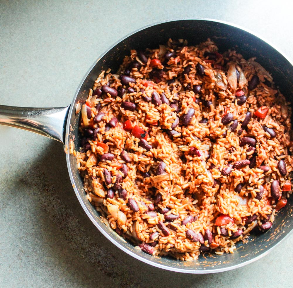 Mexican Rice And Beans  Mexican Red Beans with Rice Lisa G Cooks