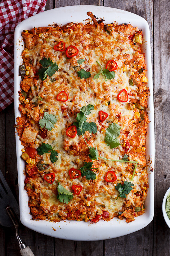 Mexican Rice Casserole  Mexican chicken and rice casserole Simply Delicious