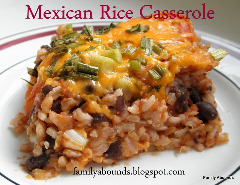 Mexican Rice Casserole  Family Abounds Mexican Rice Casserole