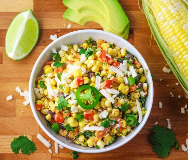 Mexican Street Corn Off The Cob  Mexican Street Corn Salad Tastefulventure
