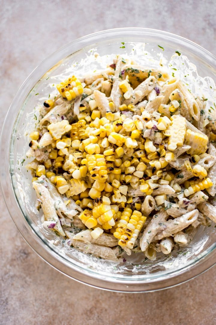 Mexican Street Corn Pasta Salad  Mexican Street Corn Pasta Salad • Salt & Lavender