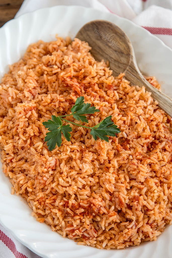 Mexican Yellow Rice Recipe  Authentic Mexican Rice Yellow Bliss Road