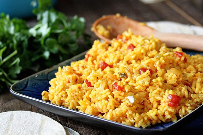 Mexican Yellow Rice Recipe  how to make yellow rice from scratch