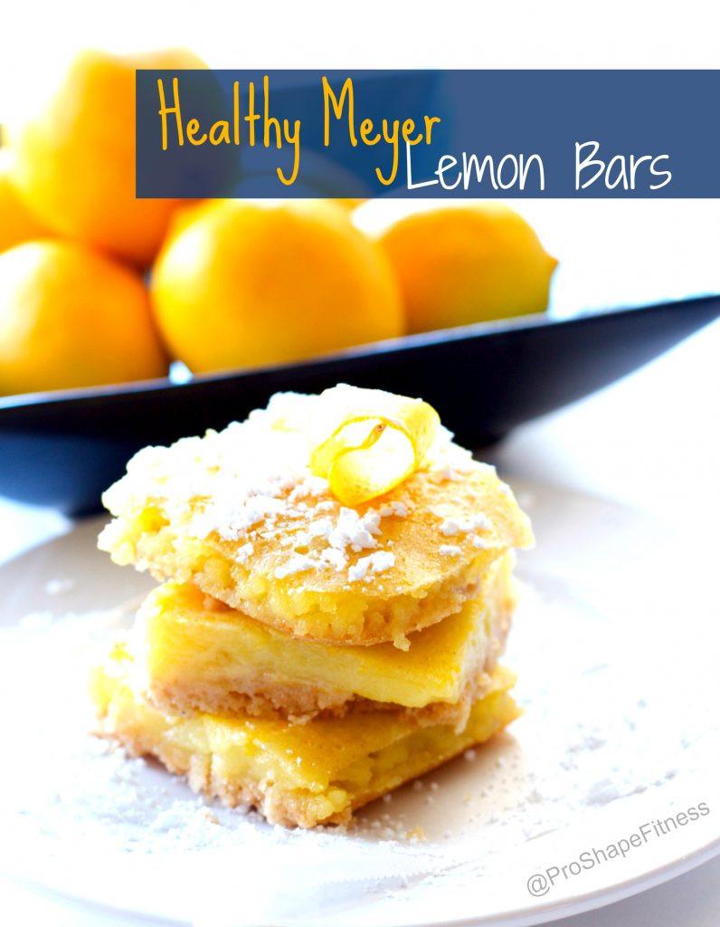 Meyer Lemon Dessert Recipe  Healthy Meyer Lemon Bars ProShapeFitness