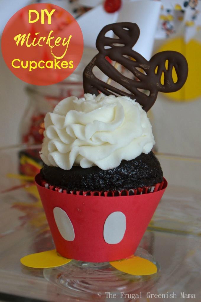 Mickey Mouse Cupcakes  Mickey Mouse Cupcakes With Free Printable Templates Our