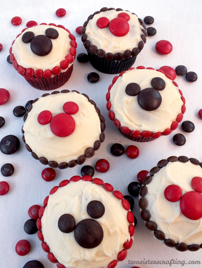Mickey Mouse Cupcakes  M&M Mickey Cupcakes Two Sisters
