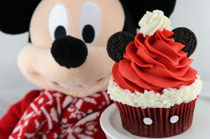 Mickey Mouse Cupcakes  Mickey Mouse Santa Hat Cupcakes Two Sisters