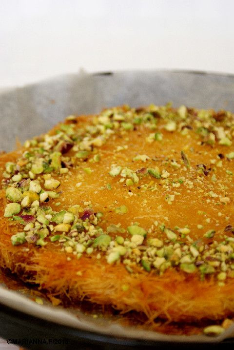Middle East Dessert Recipe  Knafeh bil jibne Middle eastern dessert to for lots