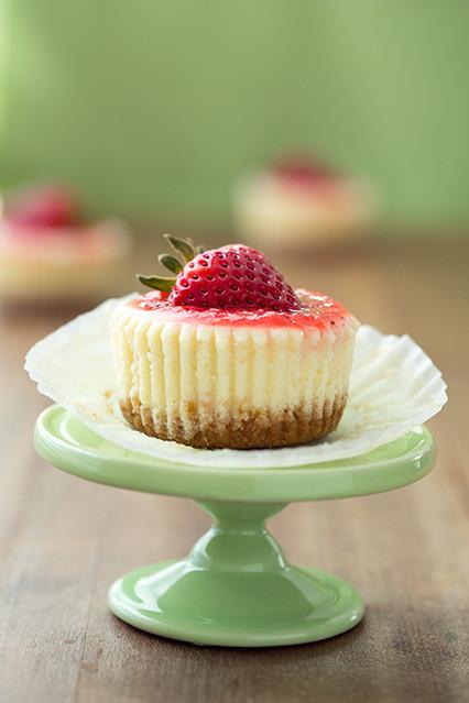 Mini Cheesecake Cupcakes  18 Muffin tin dessert recipes because mini treats are