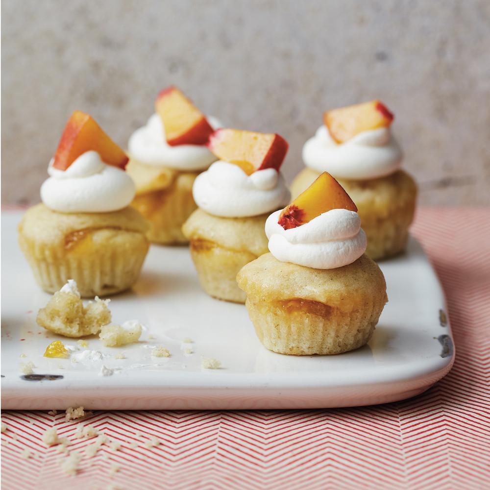 Mini Cupcakes Recipe  Peaches and Cream Mini Cupcakes Recipe