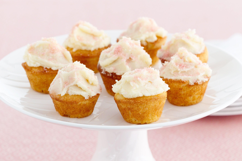 Mini Cupcakes Recipe  mini coconut cupcakes with passion fruit cing