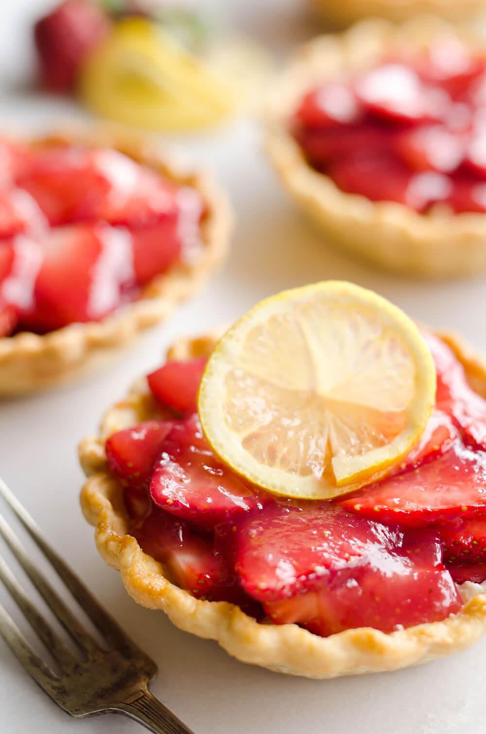 Mini Pie Recipes  Mini Strawberry Lemon Pies Fresh Dessert Recipe