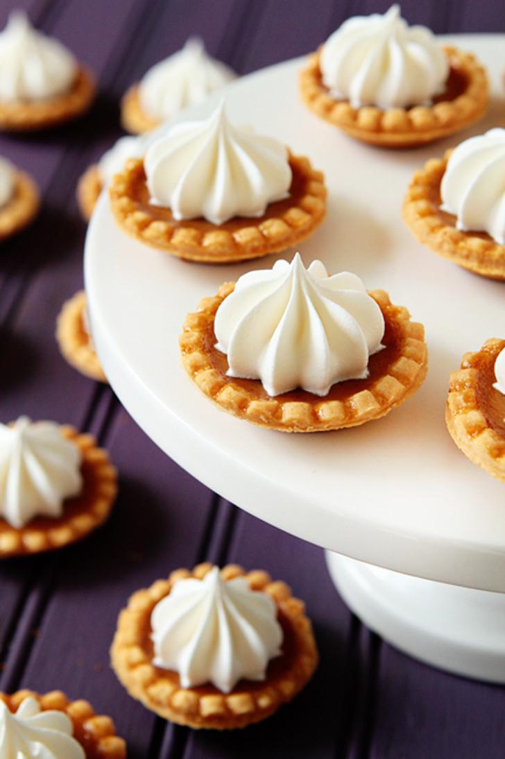 Mini Pie Recipes  Mini Pumpkin Pies Recipe — Dishmaps