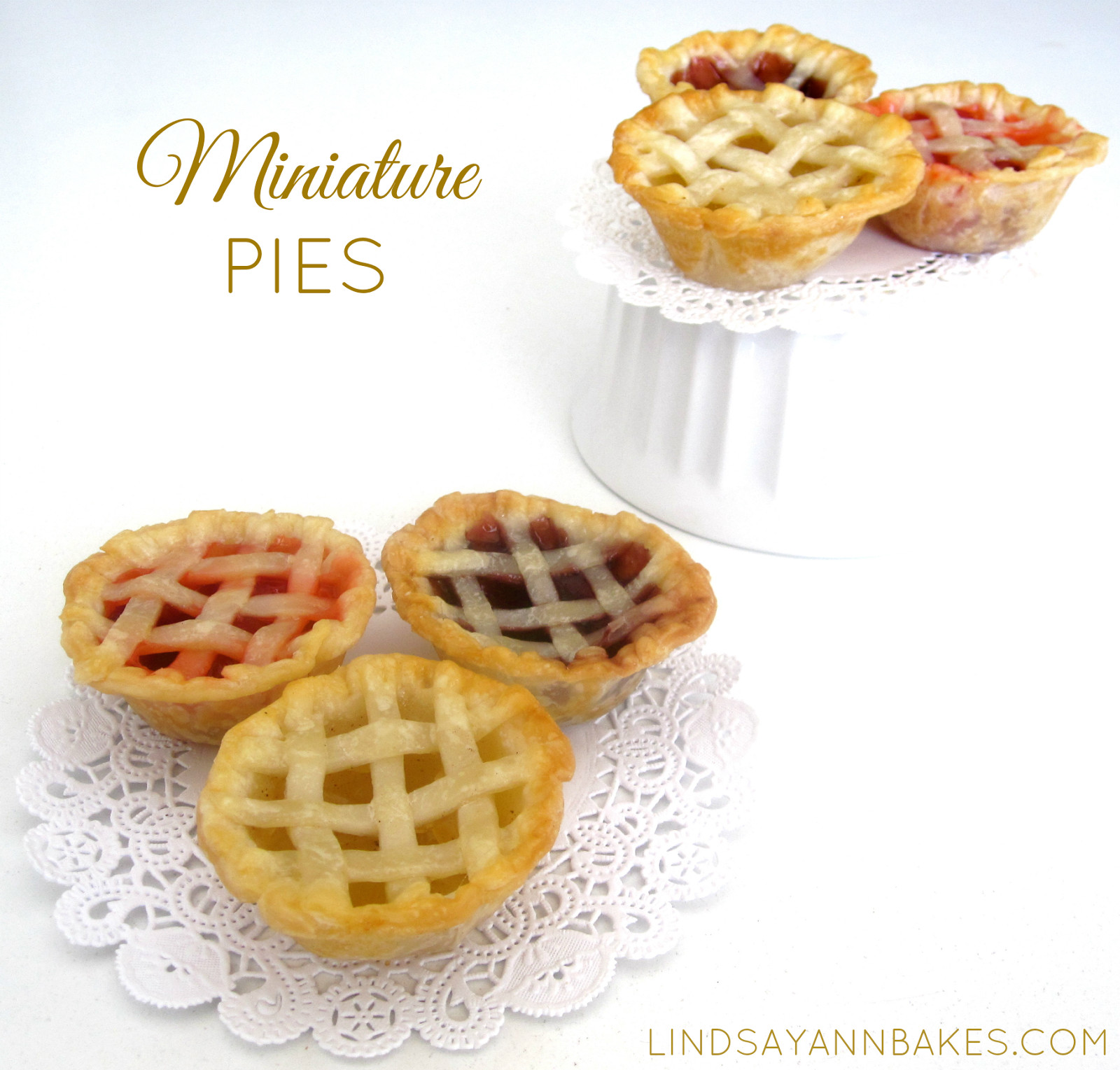 Mini Pie Recipes  VIDEO Miniature Pies in a Cupcake Pan Lindsay Ann Bakes