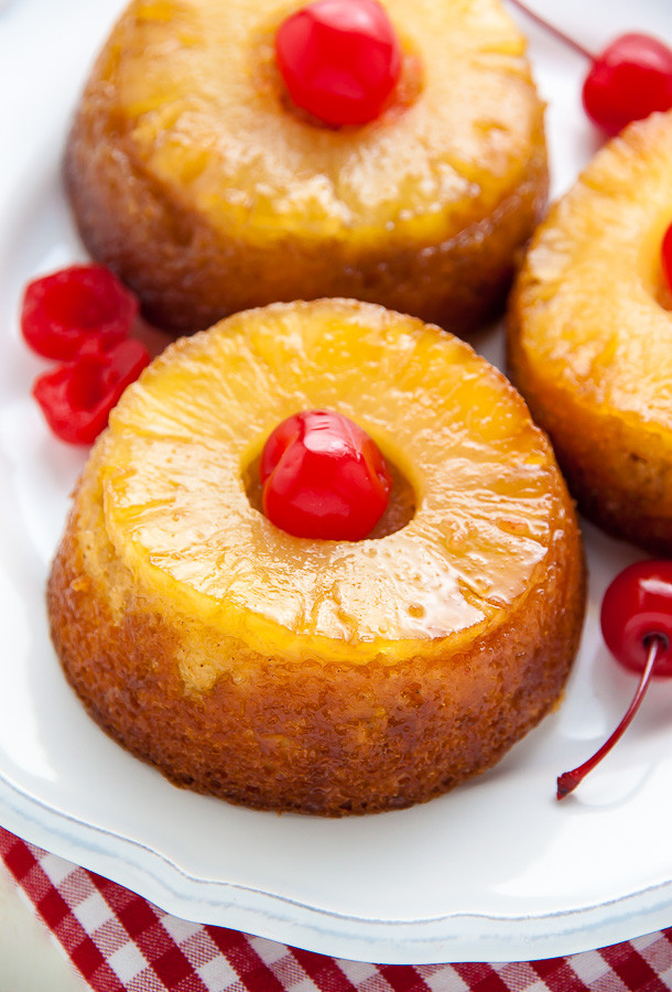 Mini Pineapple Upside Down Cake  Mini Pineapple Upside Down Cakes Baker by Nature