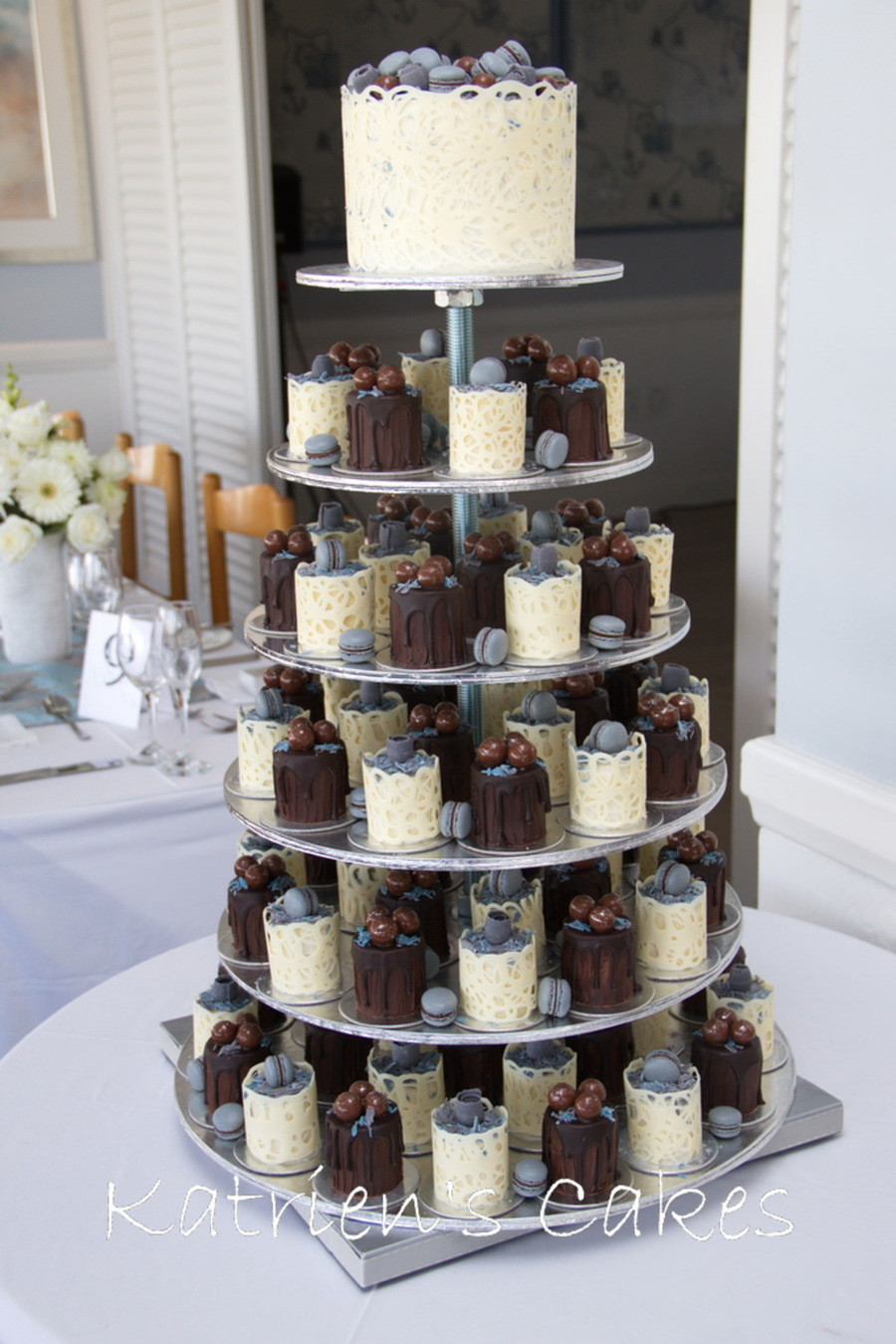 Mini Wedding Cakes  Mini Cakes Wedding Cake CakeCentral