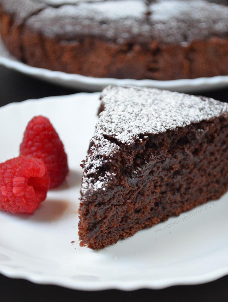 Moist Chocolate Cake  Eggless and Butterless Moist Chocolate Cake