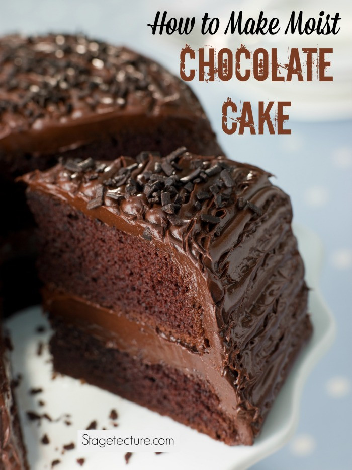 Moist Chocolate Cake  How to Make Moist Chocolate Cake from Scratch