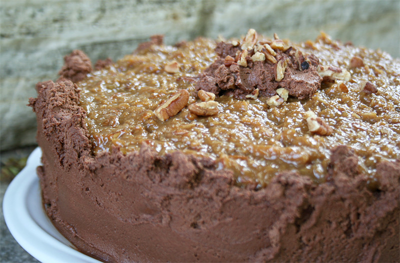 Moist German Chocolate Cake Recipe  A Naturally Sweetened Version of the Best German Chocolate