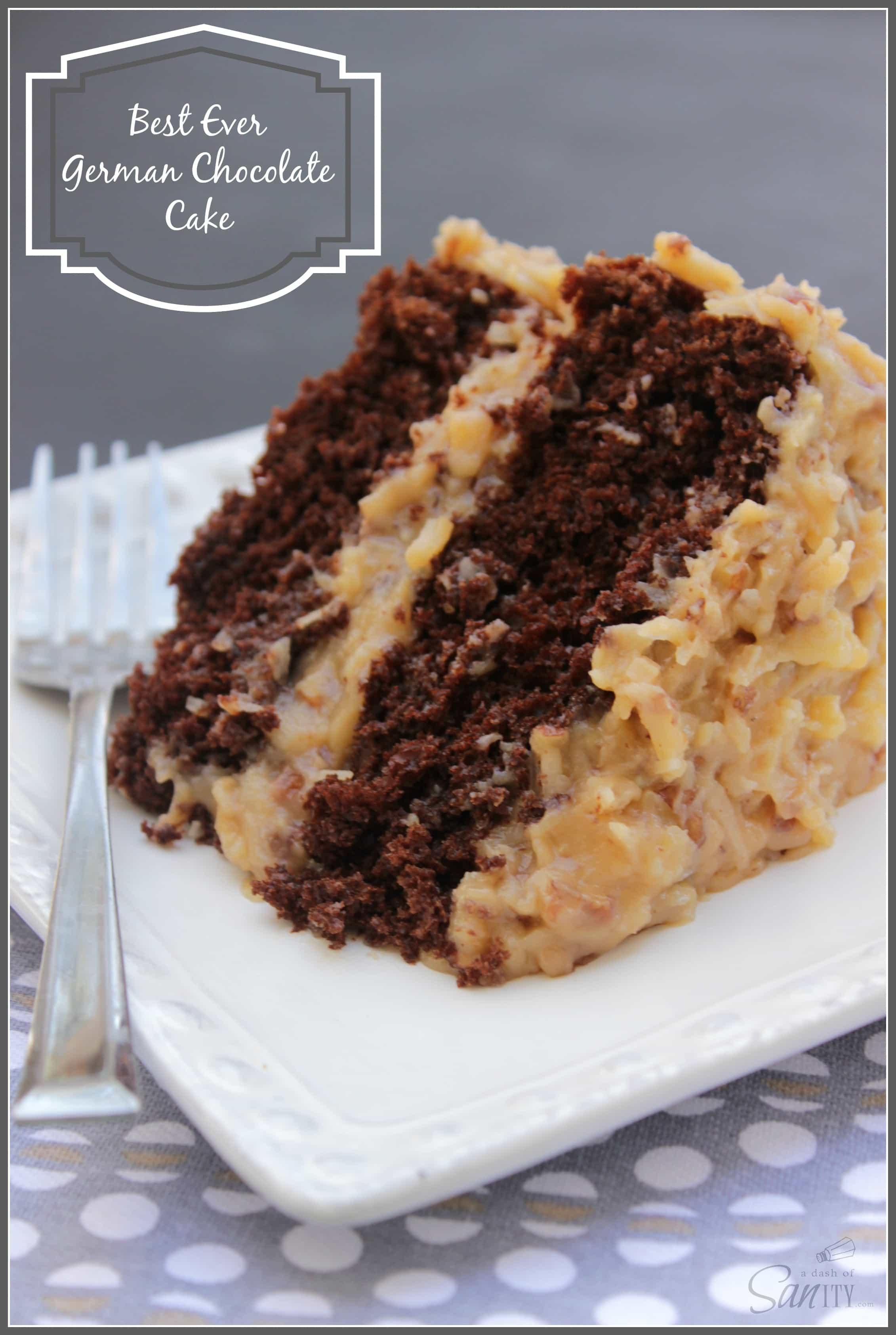 Moist German Chocolate Cake Recipe  Best Ever German Chocolate Cake