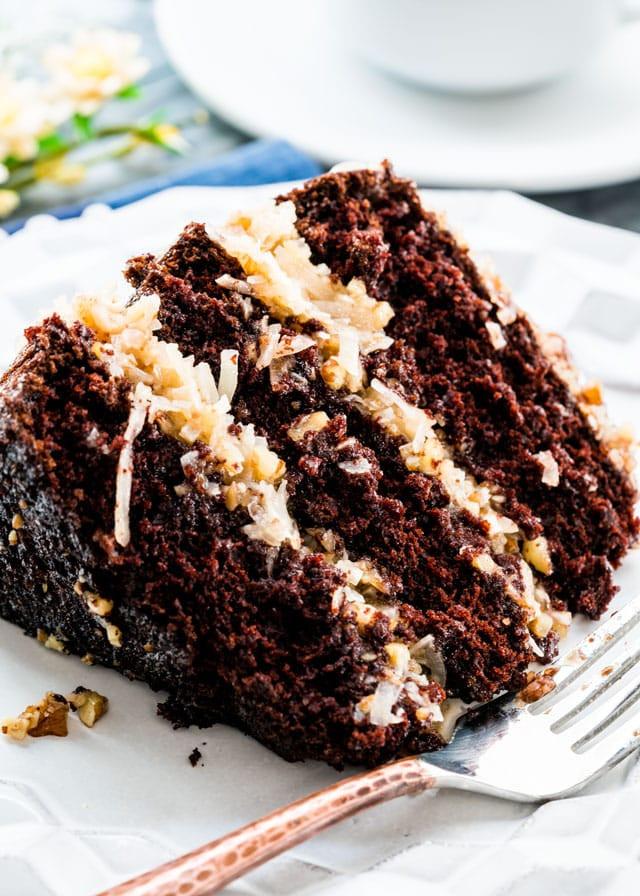 Moist German Chocolate Cake Recipe  German Chocolate Cake Jo Cooks