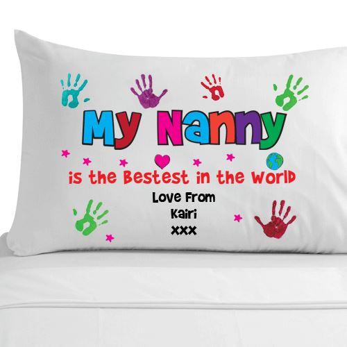 Mother'S Day Breakfast Recipes  Personalised Gran Handprint Pillowcase Grandma Nana