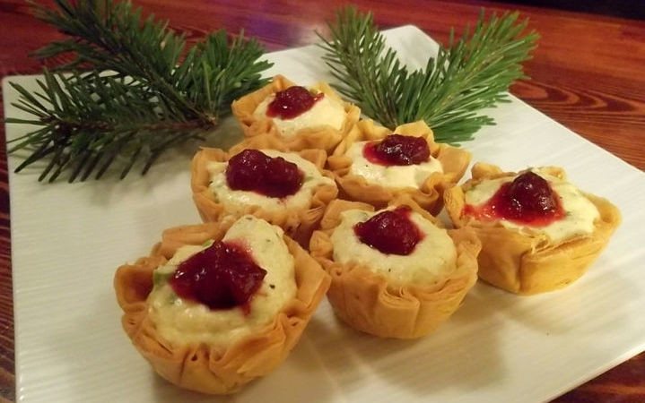 Mother'S Day Breakfast Recipes  Festive Cranberry Crab Cups Recipe Recipezazz