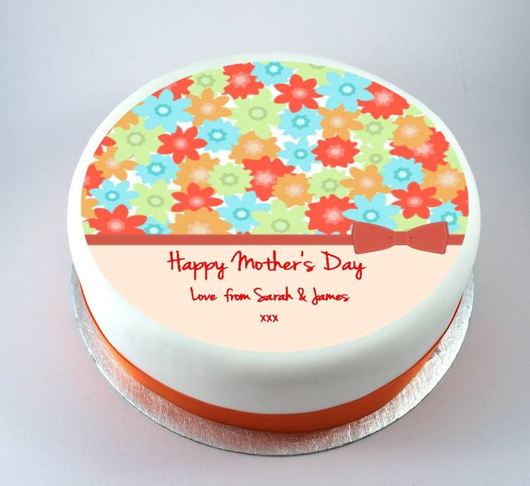 Mother'S Day Dessert Ideas  Colourful Flowers Mothers Day Cake