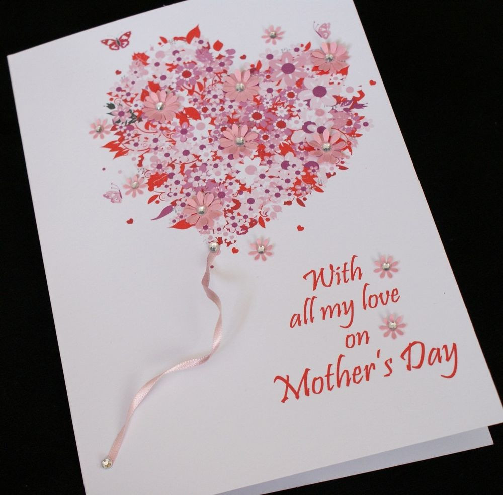 Mother'S Day Dessert Ideas  LARGE Handmade Personalised BIRTHDAY or MOTHER S DAY Card