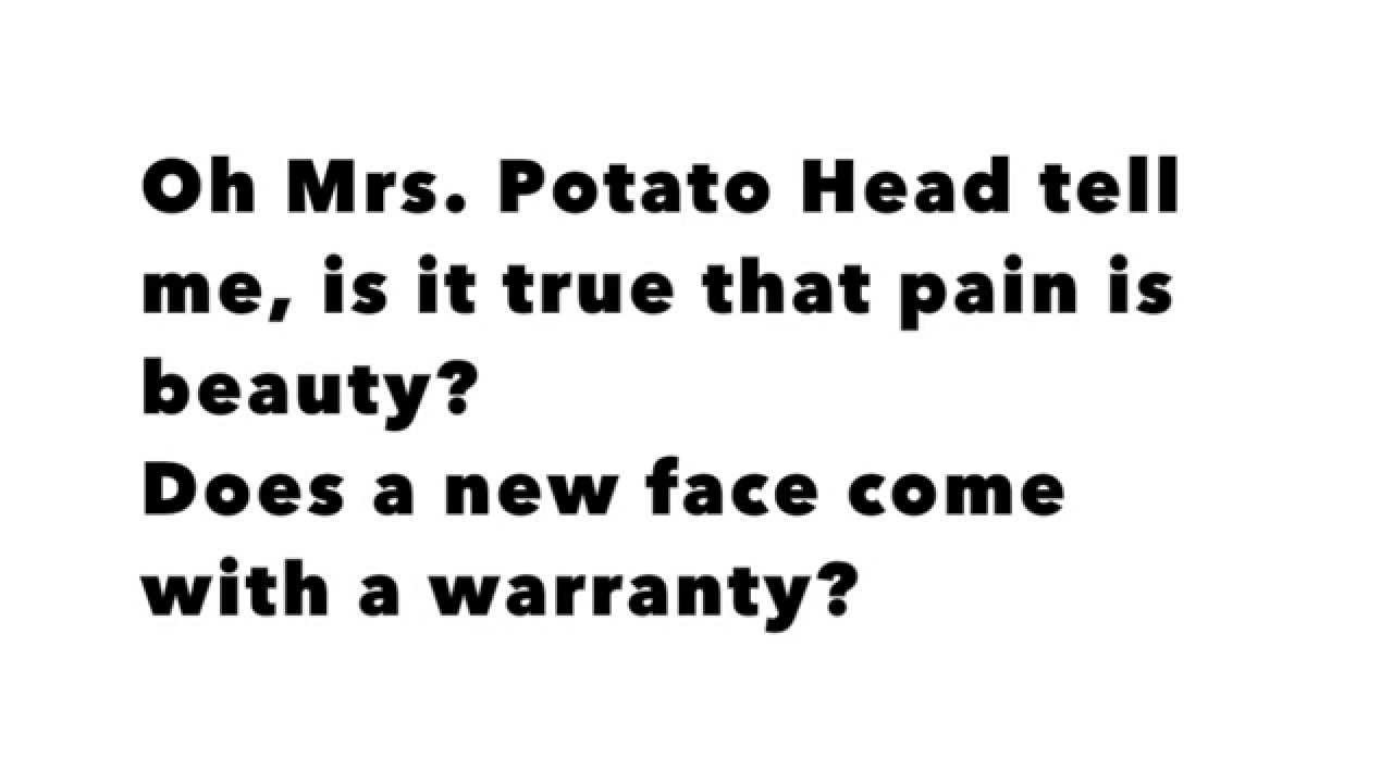 Mrs. Potato Head Lyrics  Melanie Martinez Mrs Potato Head LYRICS