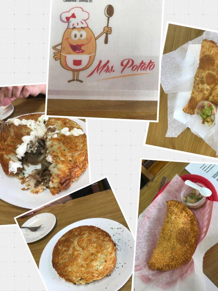 Mrs Potato Restaurant  This was our empanadas and beef Seneca Rosti at Mrs