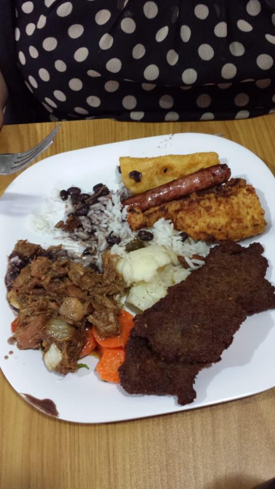Mrs Potato Restaurant  Buffet per pound try the codfish cakes Bolinha de