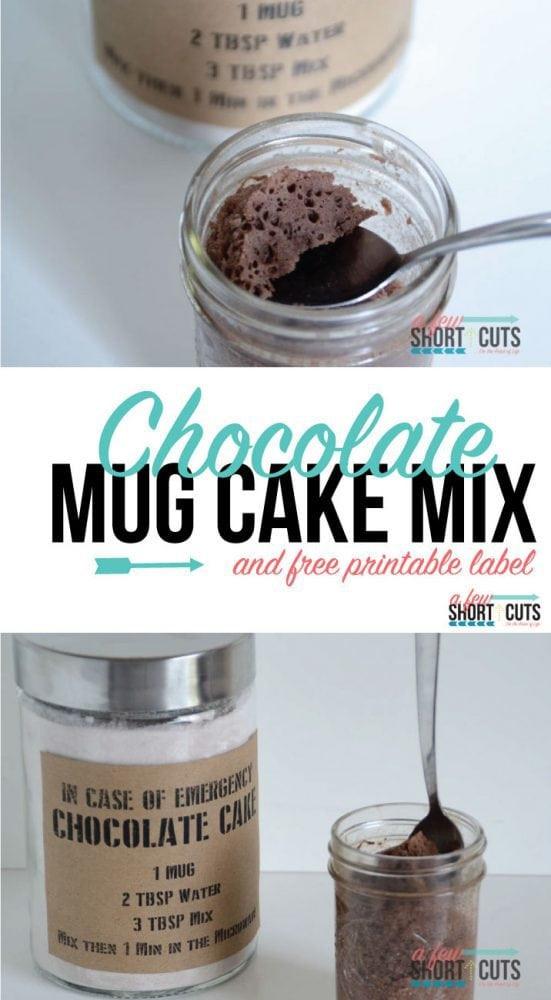 Mug Cake Mix  Chocolate Mug Cake Mix A Few Shortcuts