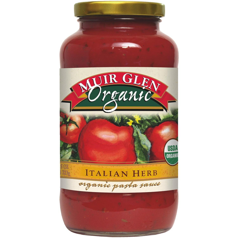 Muir Glen Tomato Sauce  Muir Glen Organic Pasta Sauce Italian Herb 25 5 Oz