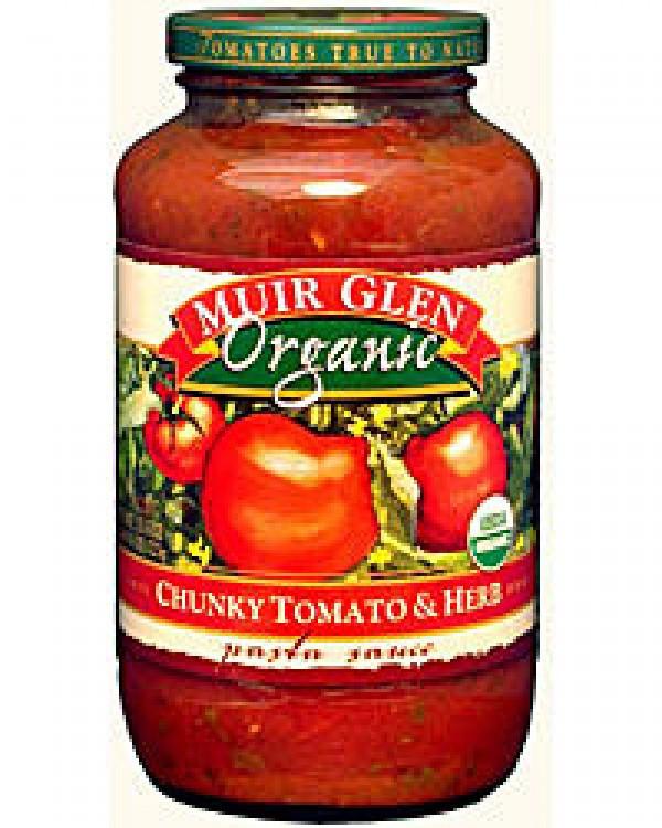 Muir Glen Tomato Sauce  Muir Glen Organic Pasta Sauce Chunky Tomato and Herb 723g