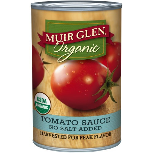 Muir Glen Tomato Sauce  Muir Glen Organic Tomato Sauce No Salt Added 15 Oz