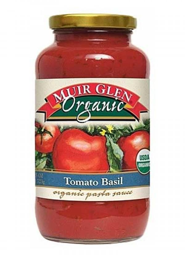 Muir Glen Tomato Sauce  Muir Glen Organic Pasta Sauce Tomato Basil 723g Natural
