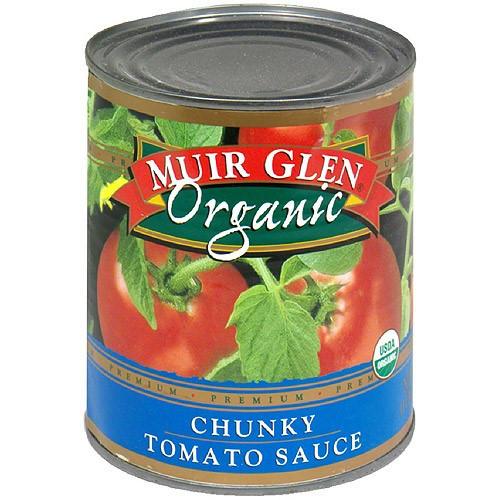 Muir Glen Tomato Sauce  Muir Glen Organic Chunky Tomato Sauce 28 oz Pack of 6
