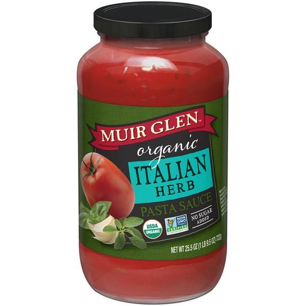 Muir Glen Tomato Sauce  Muir Glen Organic Italian Herb Pasta Sauce from Central