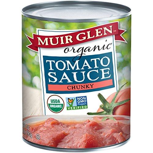 Muir Glen Tomato Sauce  AUTHENTIC Muir Glen Organic Chunky Tomato Sauce 28 Ounce