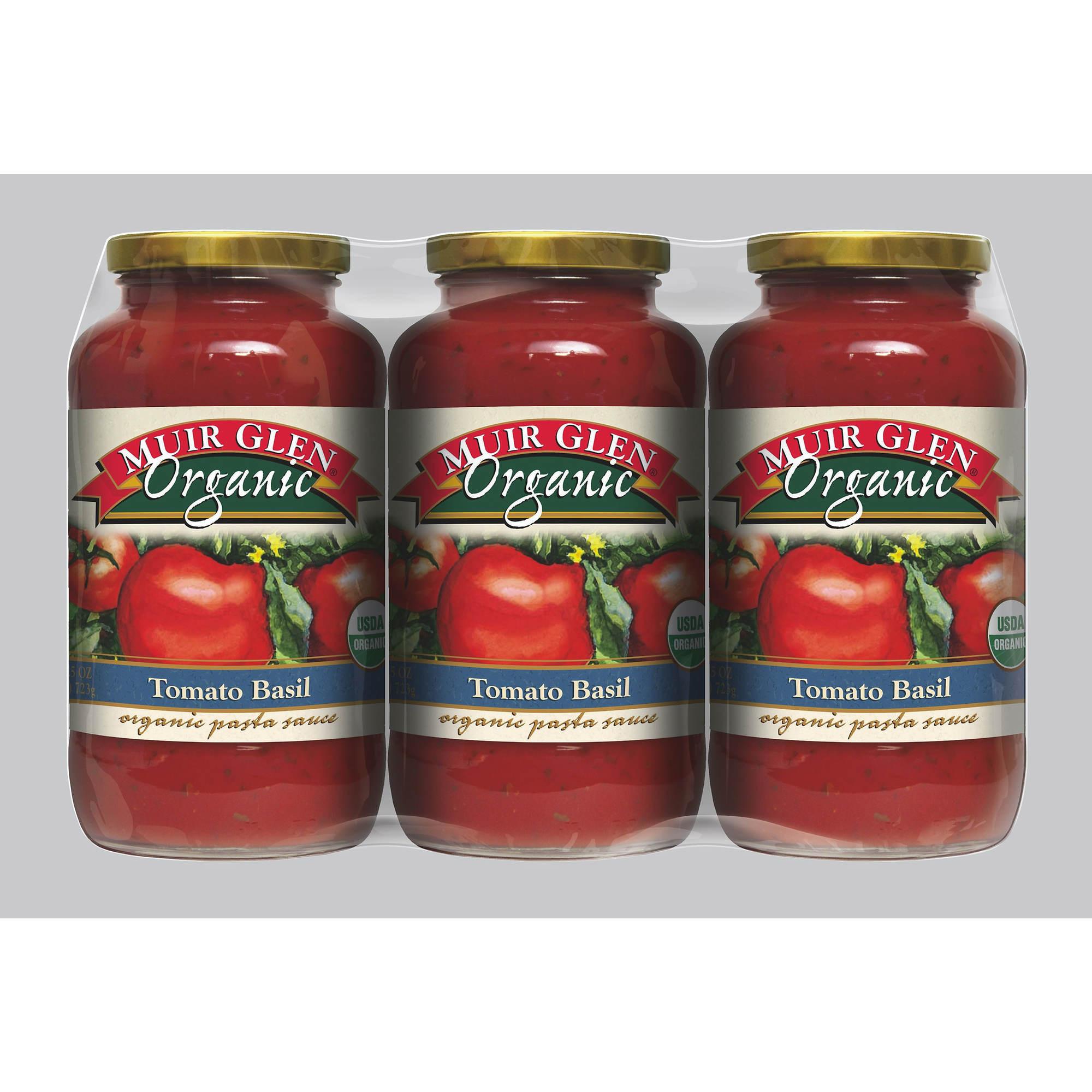 Muir Glen Tomato Sauce  Muir Glen Organic Tomato Basil Sauce 3 pk 8 5 oz BJ s