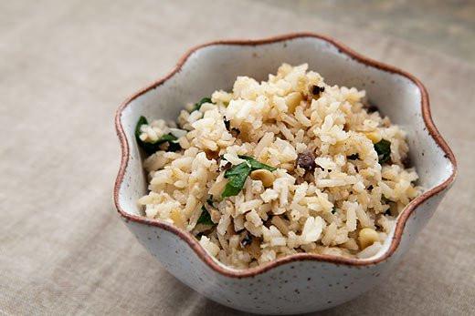 Mushroom Rice Pilaf  Rice Pilaf with Mushrooms and Pine Nuts Recipe