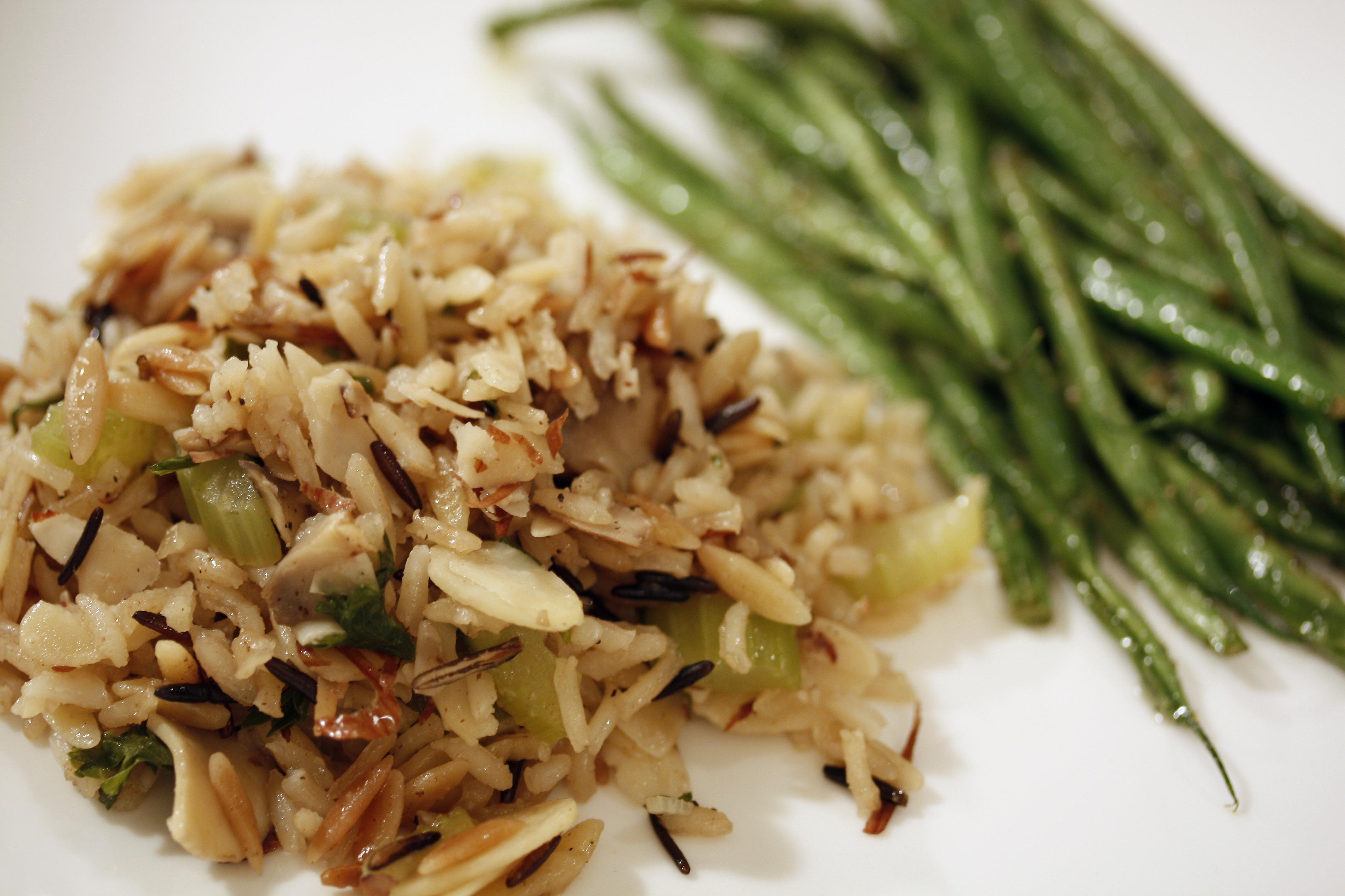 Mushroom Rice Pilaf  Almond Mushroom Rice Pilaf