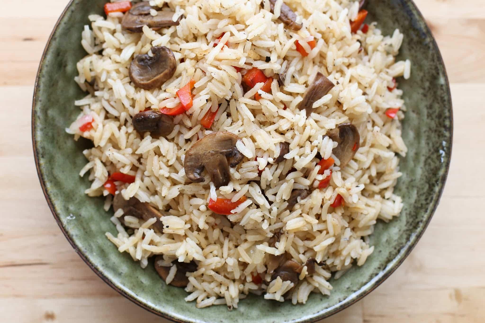 Mushroom Rice Pilaf  Mushroom and Pepper Rice Pilaf