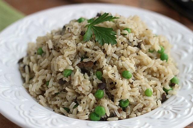 Mushroom Rice Pilaf  Mushroom Brown Rice Pilaf Vegan Gluten Free Oatmeal