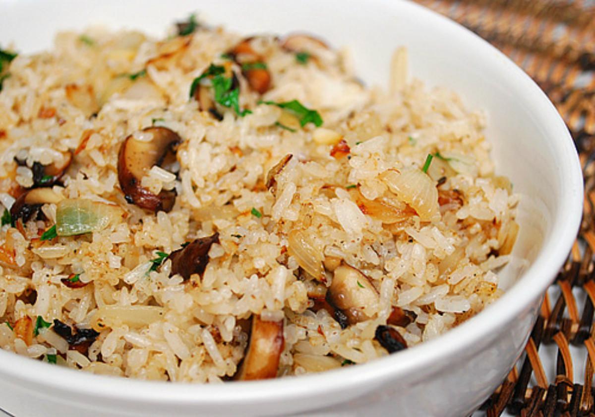 Mushroom Rice Pilaf  How To Make Mushroom Fried Rice