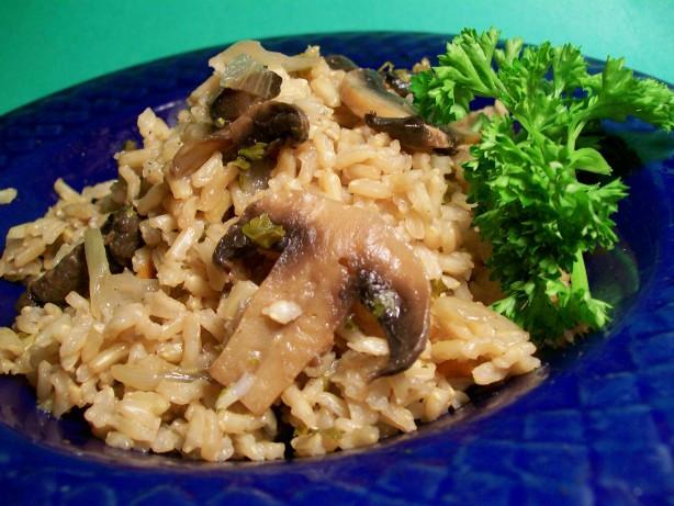Mushroom Rice Pilaf  Easy Mushroom Rice Pilaf Recipe Food