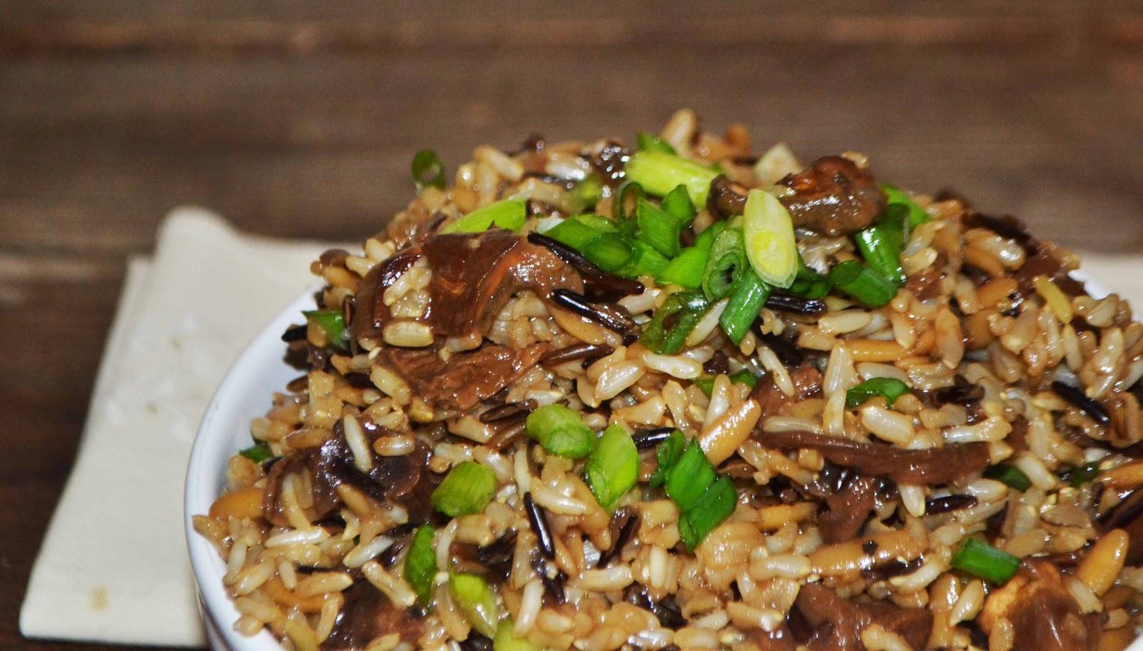 Mushroom Rice Pilaf  Wild Rice Pilaf w Mushrooms Baked New England